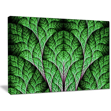 DesignArt 'Exotic Green Biological Organism' Graphic Art on Wrapped Canvas; 30'' H x 40'' W x 1'' D