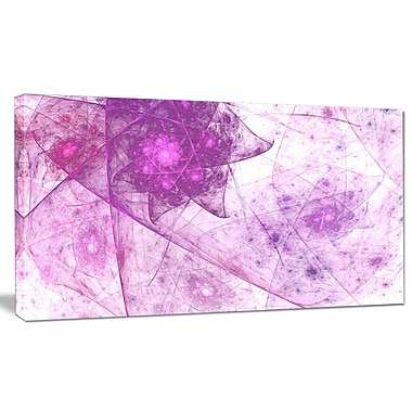 DesignArt 'Light Purple Rotating Polyhedron' Graphic Art on Wrapped Canvas; 12'' H x 20'' W x 1'' D