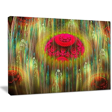 DesignArt 'Yellow World of Infinite Universe' Graphic Art on Wrapped Canvas; 20'' H x 40'' W x 1'' D