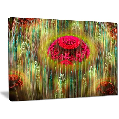 DesignArt 'Yellow World of Infinite Universe' Graphic Art on Wrapped Canvas; 30'' H x 40'' W x 1'' D
