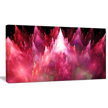 DesignArt 'Red Fractal Crystals Design' Graphic Art on Wrapped Canvas; 12'' H x 20'' W x 1'' D