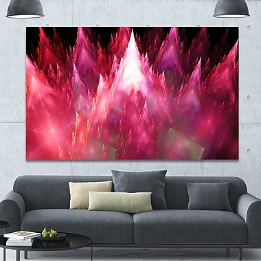 DesignArt 'Red Fractal Crystals Design' Graphic Art on Wrapped Canvas; 40'' H x 60'' W x 1.5'' D