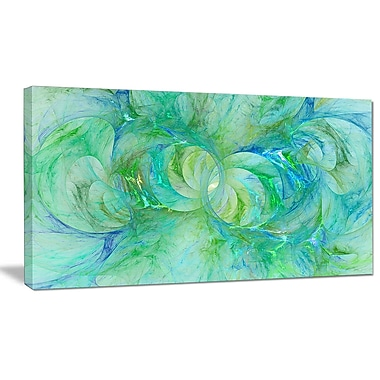 DesignArt 'Snow Fractal Glass Texture' Graphic Art on Wrapped Canvas; 16'' H x 32'' W x 1'' D
