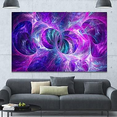 DesignArt 'Snow Purple Fractal Texture' Graphic Art on Wrapped Canvas; 40'' H x 60'' W x 1.5'' D