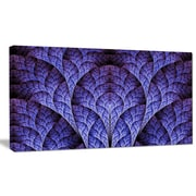 DesignArt 'Exotic Purple Biological Organism' Graphic Art on Wrapped Canvas; 12'' H x 20'' W x 1'' D