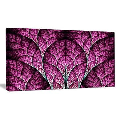 DesignArt 'Exotic Pink Biological Organism' Graphic Art on Wrapped Canvas; 16'' H x 32'' W x 1'' D