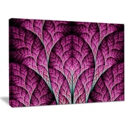 DesignArt 'Exotic Pink Biological Organism' Graphic Art on Wrapped Canvas; 30'' H x 40'' W x 1'' D