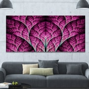 DesignArt 'Exotic Pink Biological Organism' Graphic Art on Wrapped Canvas; 28'' H x 60'' W x 1.5'' D
