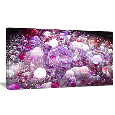 DesignArt 'Red Fractal Molecule Pattern' Graphic Art on Wrapped Canvas; 20'' H x 40'' W x 1'' D