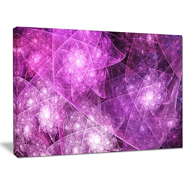 DesignArt 'Pink Rotating Polyhedron' Graphic Art on Wrapped Canvas; 30'' H x 40'' W x 1'' D
