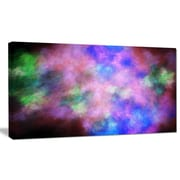 DesignArt 'Multi-Color Bright Sky w/ Stars' Graphic Art on Wrapped Canvas; 20'' H x 40'' W x 1'' D
