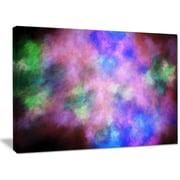 DesignArt 'Multi-Color Bright Sky w/ Stars' Graphic Art on Wrapped Canvas; 30'' H x 40'' W x 1'' D