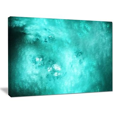 DesignArt 'Blur Blue Sky w/ Stars' Graphic Art on Wrapped Canvas; 30'' H x 40'' W x 1'' D