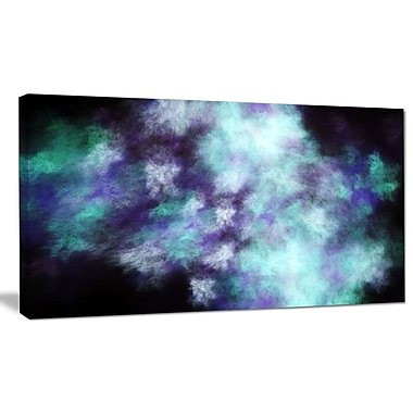 DesignArt 'Perfect Flowery Starry Sky' Graphic Art on Wrapped Canvas; 16'' H x 32'' W x 1'' D