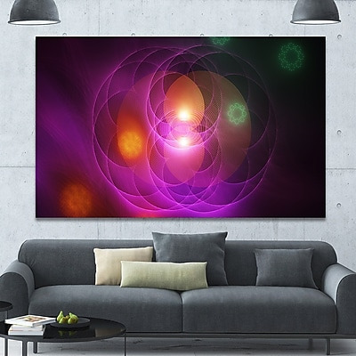 DesignArt 'Merge Colored Spheres.' Graphic Art on Wrapped Canvas; 40'' H x 60'' W x 1.5'' D