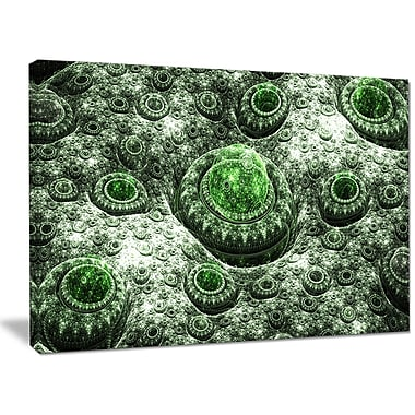 DesignArt 'Exotic Green Fractal Landscape' Graphic Art on Wrapped Canvas; 30'' H x 40'' W x 1'' D