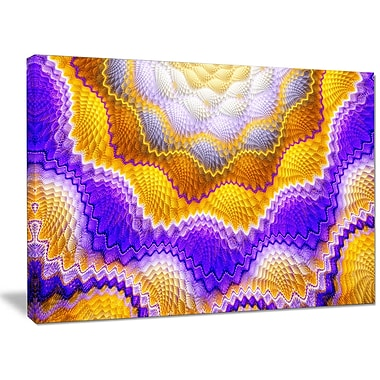 DesignArt 'Blue Yellow Snake Skin Flower' Graphic Art on Wrapped Canvas; 30'' H x 40'' W x 1'' D