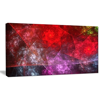 DesignArt 'Red Purple Symphony of Gems' Graphic Art on Wrapped Canvas; 12'' H x 20'' W x 1'' D