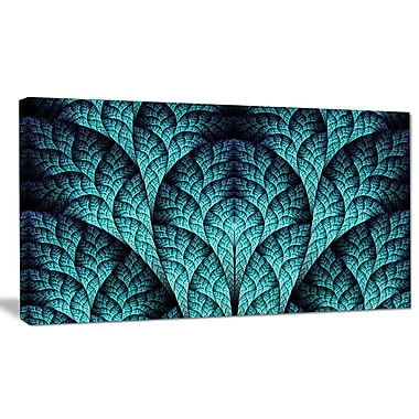 DesignArt 'Blue Exotic Biological Organism' Graphic Art on Wrapped Canvas; 20'' H x 40'' W x 1'' D