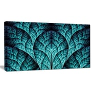 DesignArt 'Blue Exotic Biological Organism' Graphic Art on Wrapped Canvas; 12'' H x 20'' W x 1'' D
