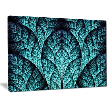 DesignArt 'Blue Exotic Biological Organism' Graphic Art on Wrapped Canvas; 30'' H x 40'' W x 1'' D