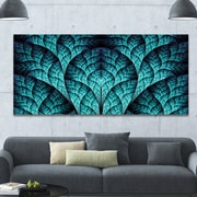 DesignArt 'Blue Exotic Biological Organism' Graphic Art on Wrapped Canvas; 28'' H x 60'' W x 1.5'' D