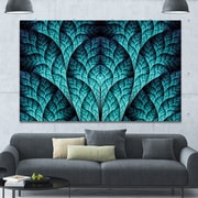 DesignArt 'Blue Exotic Biological Organism' Graphic Art on Wrapped Canvas; 40'' H x 60'' W x 1.5'' D