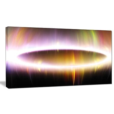 DesignArt 'Large Oval of Northern Lights' Graphic Art on Wrapped Canvas; 20'' H x 40'' W x 1'' D