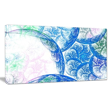 DesignArt 'Blue White Dramatic Clouds' Graphic Art on Wrapped Canvas; 16'' H x 32'' W x 1'' D