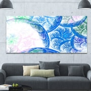 DesignArt 'Blue White Dramatic Clouds' Graphic Art on Wrapped Canvas; 28'' H x 60'' W x 1.5'' D