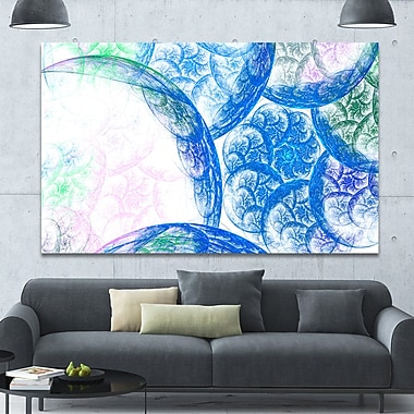 DesignArt 'Blue White Dramatic Clouds' Graphic Art on Wrapped Canvas; 40'' H x 60'' W x 1.5'' D