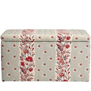 August Grove Nena Cotton Upholstered Storage Bedroom Bench; Seagreen