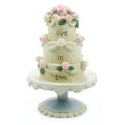 Blossom Bucket Live in Love Wedding Cake Sculpture