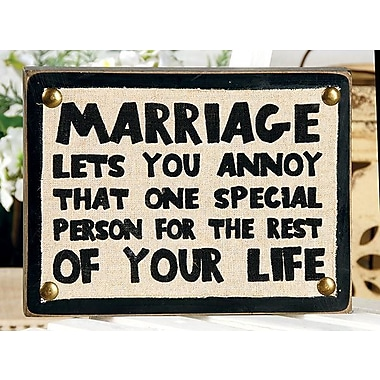 Blossom Bucket Marriage Box Sign Wall Decor