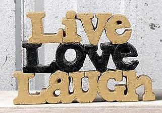 Blossom Bucket Live Love Laugh Letter Block