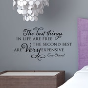 Belvedere Designs LLC Quotes  Very Expensive Chanel Wall Decal