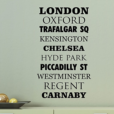Belvedere Designs LLC Quotes London's Famous Places Wall Decal