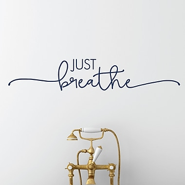 Belvedere Designs LLC Quotes Just Breathe Wall Decal