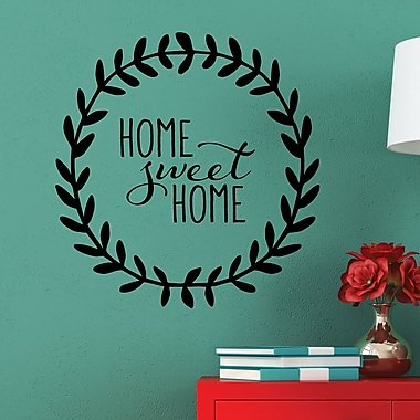 Belvedere Designs LLC Quotes Home Sweet Home Leaves Wall Decal