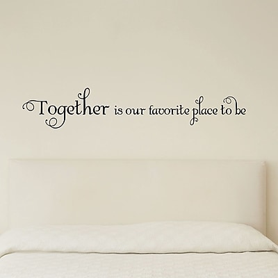 Belvedere Designs LLC Quotes Together Is Our Favorite Wall Decal