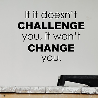 Belvedere Designs LLC Quotes Challenge And Change Wall Decal