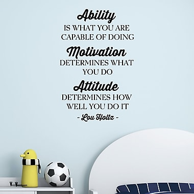 Belvedere Designs LLC Quotes Ability Motivation Atitude Wall Decal