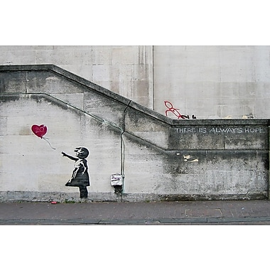 Latitude Run 'There Is Always Hope Balloon Girl' by Banksy Graphic Art Print on Wrapped Canvas