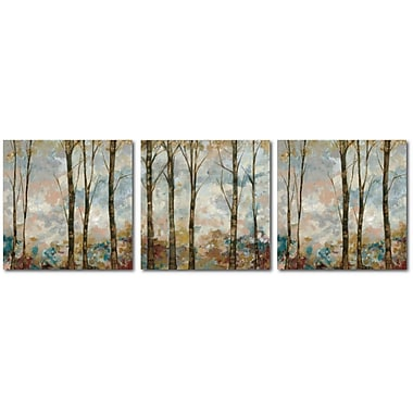 Courtside Market 'Winter Tree' 3 Piece Painting Print Set on Wrapped Canvas