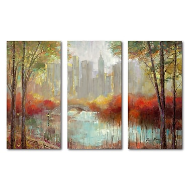 Courtside Market 'City View' 3 Piece Painting Print Set on Wrapped Canvas