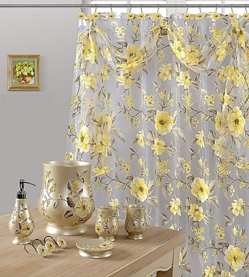 Daniels Bath Melrose Shower Curtain; Yellow