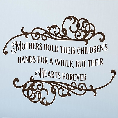 Enchantingly Elegant Mothers Hold Their Children's Hands Vinyl Wall Decal; 22'' H x 28'' W