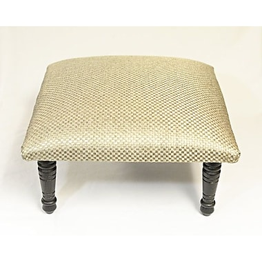 Corona Decor Maxine Basket Weave Accent Stool