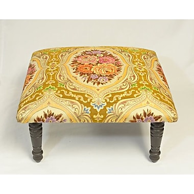 Corona Decor Maxine Carnival Brocade Medallion Accent Stool