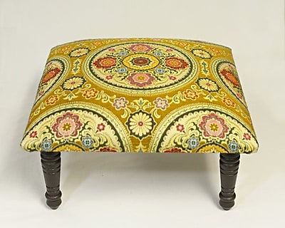 Corona Decor Maxine Rio Brocade Medallion Accent Stool